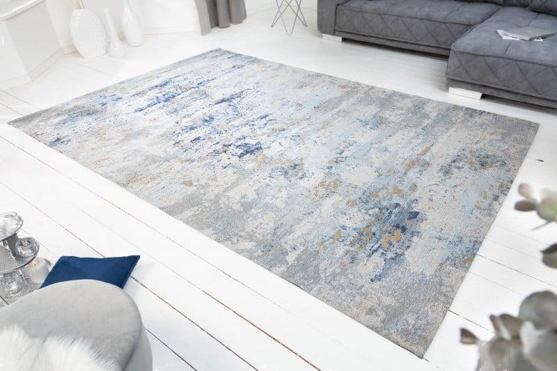 Teppich Abstrakt 350x240cm sivá blau