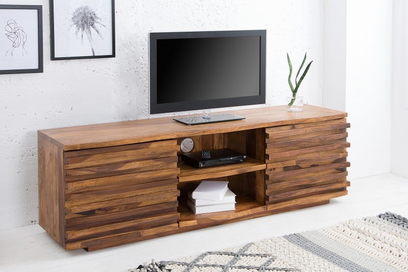 Dizajnový TV stolík dodá miestnosti šmrnc a zaujme už na prvý pohľad. Zdroj: iKuchyne.sk