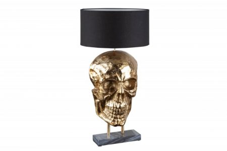 Stolová lampa Skull 75cm čiernozlatá