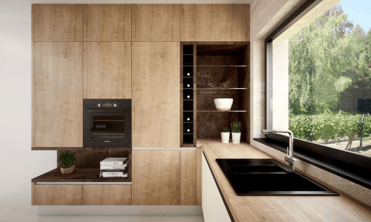 Ak sa rozhodujete pre drevodekory pre vašu kuchynskú linku, určite si budete mať z čoho vybrať. Zdroj: iKuchyne.sk