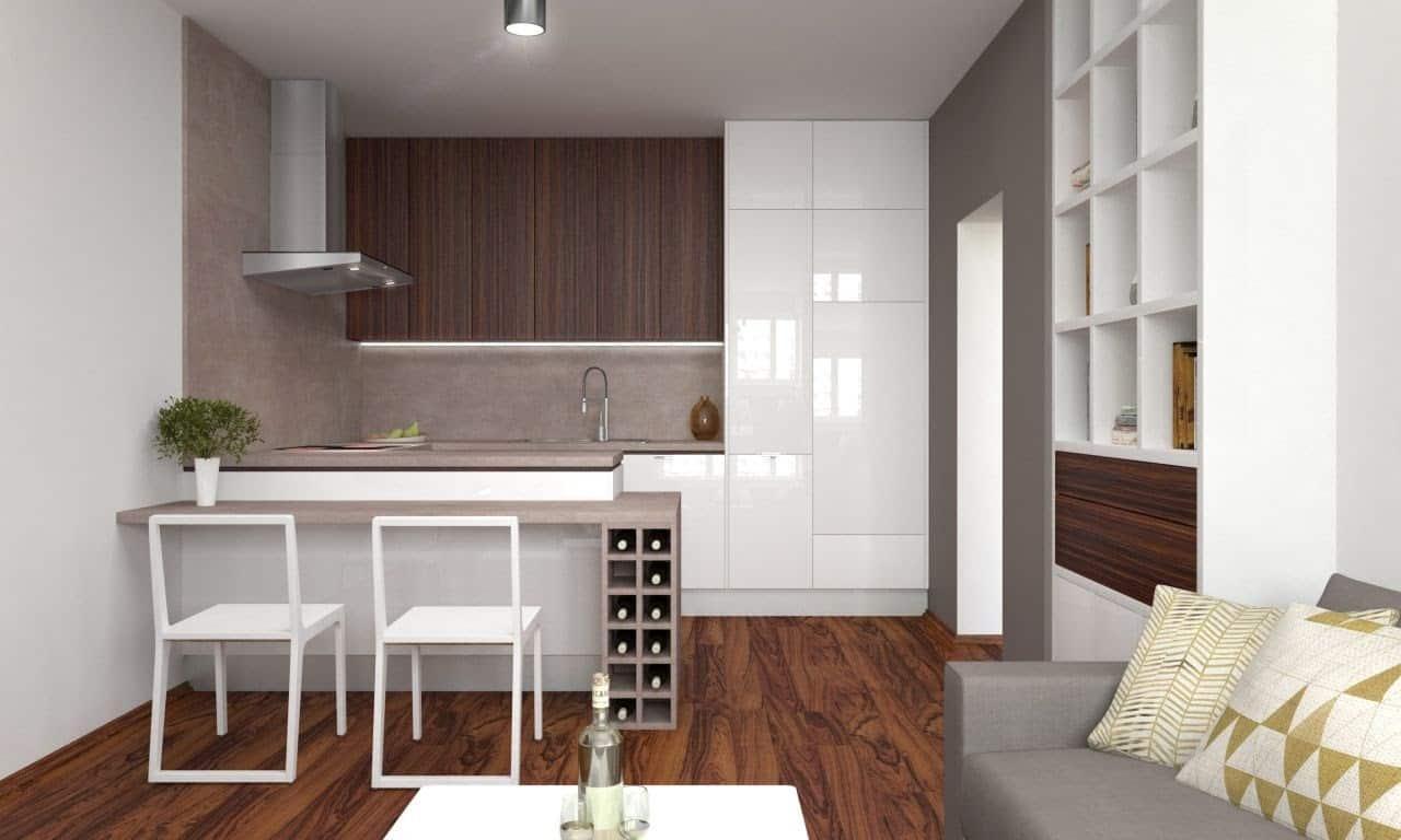 Svetlá kuchyňa s efektívne využitým priestorom. Zdroj: iKuchyne.sk