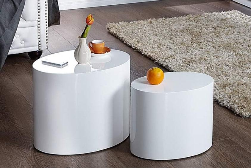 Set dvoch oválnych stolíkov – vhodné geometrické tvary v interiéri. A moderné. Zdroj: iKuchyne.sk