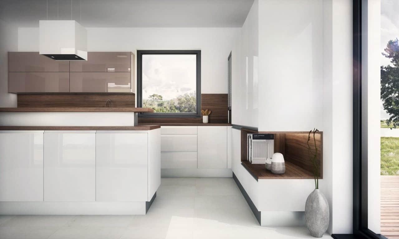 Aj táto minimalistická kuchyňa musela byť najprv dôkladne naplánovaná. Zdroj: iKuchyne.sk