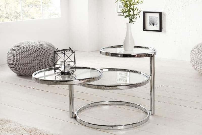 Sklenený stolík v štýle Art Deco vás nadchne svojou variabilitou. Foto: iKuchyne.sk
