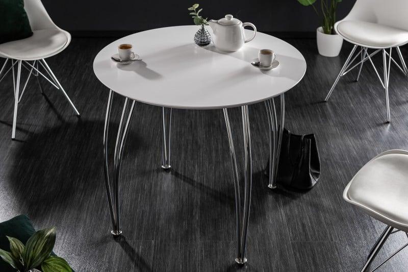 Okrúhly jedálenský stôl z našej ponuky. Zdroj: iKuchyne.sk