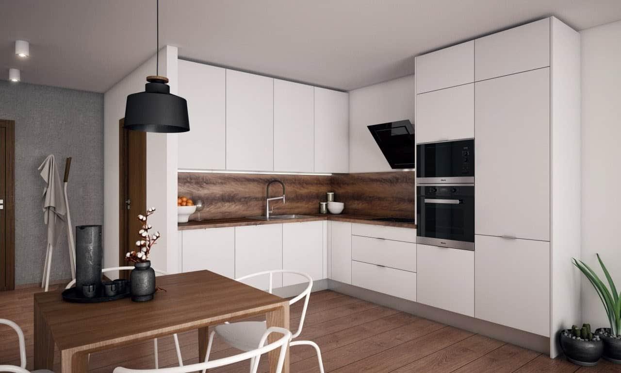 Kuchyňa verná tradícii, ktorá maximálne využíva priestor v kuchyni vďaka správnemu výberu spotrebičov. Zdroj: iKuchyne.sk