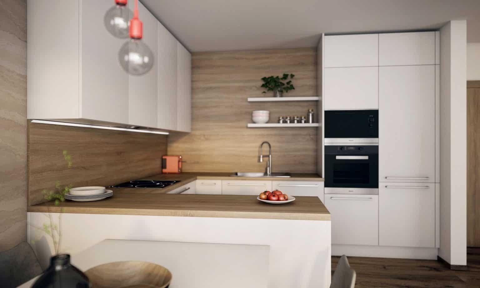Praktická kuchyňa s efektívnym rozmiestnením. Zdroj: iKuchyne.sk