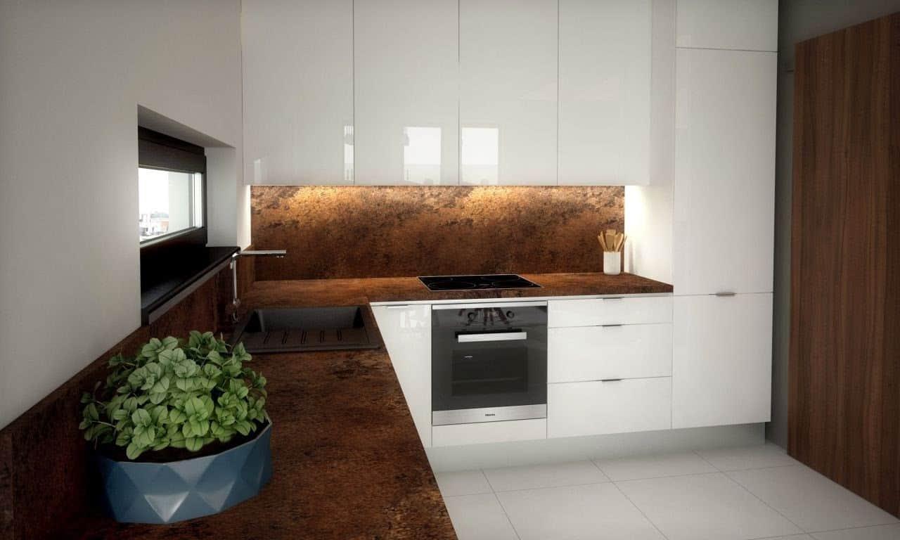 Aj malá kuchyňa ponúka dostatok priestoru v kuchyni pre udržanie poriadku. Zdroj: iKuchyne.sk