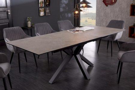 Jedálenský stôl Eternity 180-225cm keramika betón-Optik