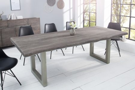 Jedálenský stôl Mammut 220cm sivý agát 60mm
