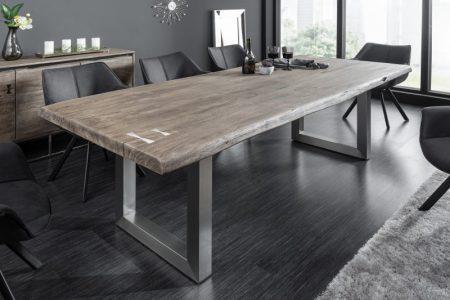 Jedálenský stôl Mammut Artwork 220cm agát sivá 60mm