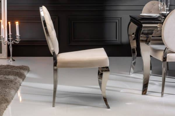 Stolička Modern Barock béžová zamat