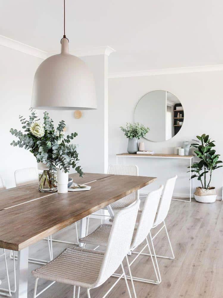 Škandinávsky štýl vo vašej jedálni. Zdroj: Pinterest.com