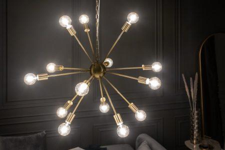 Závesná lampa Sputnik 85cm zlatá