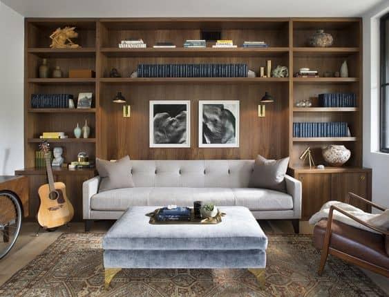 Knižnica ako dominanta interiéru. Zdroj: Pinterest.com