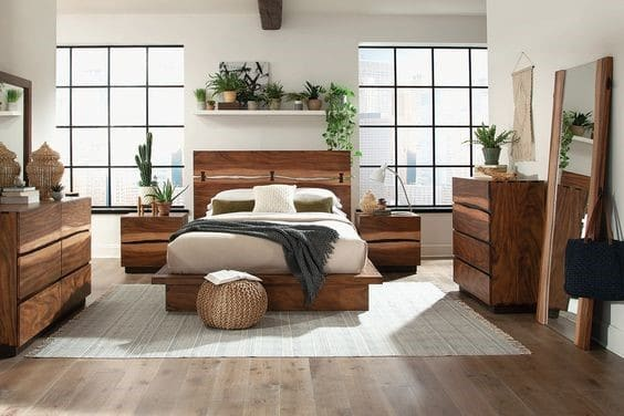 Exotické drevo vnesie do vášho interiéru závan jedinečnosti. Zdroj: Pinterest.com