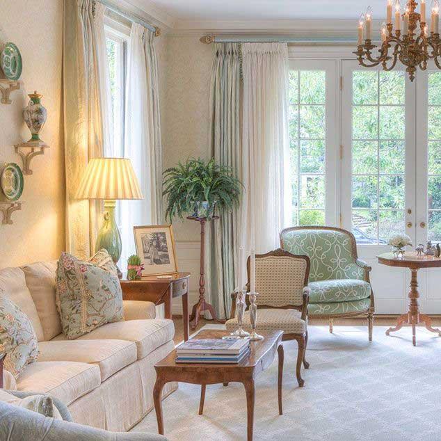Obývacia izba vo francúzskom štýle. Bonjour! Zdroj: Pinterest.com