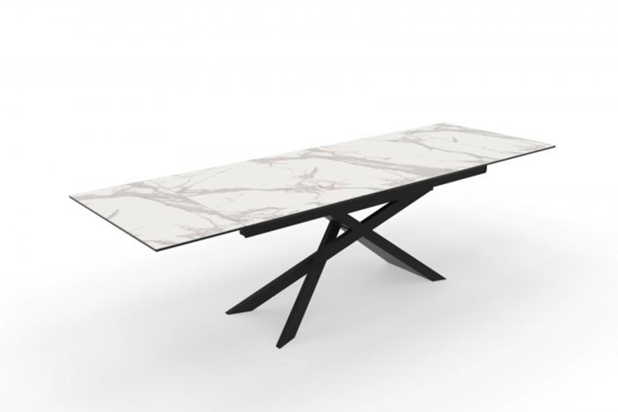 Keramický jedálenský stôl je ako stvorený do mestského bytu. Zdroj: iKuchyne.sk