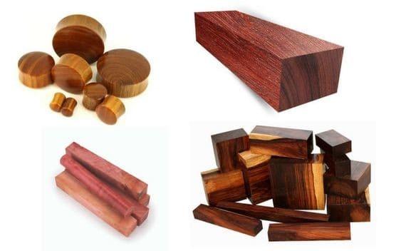 Rôzne dreviny sa pýšia rozličnou farebnosťou, štruktúrou, i vlastnosťami. Zdroj: Pinterest.com