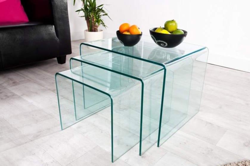 Tento stolík je pre kategóriu sklenené dekorácie ako stvorený. Zdroj: iKuchyne.sk