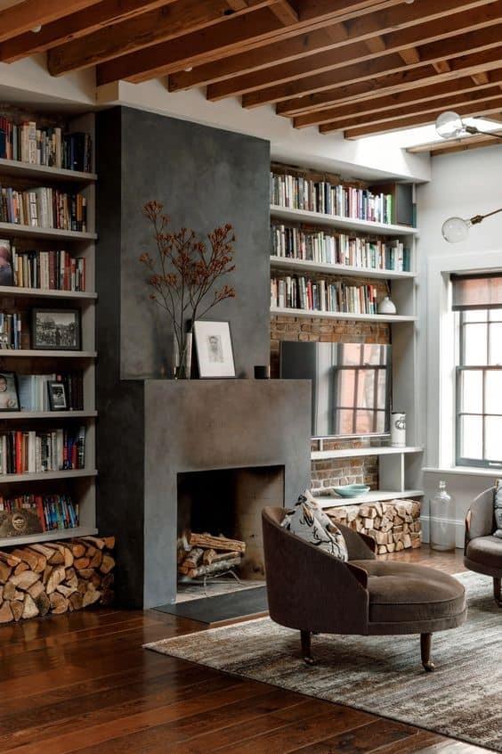 Knižnica u vás doma nesmie chýbať. Zdroj: Pinterest.com