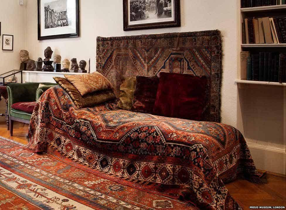 Leňoška psychoanalytika Sigmunda Freuda. Foto: BBC.com