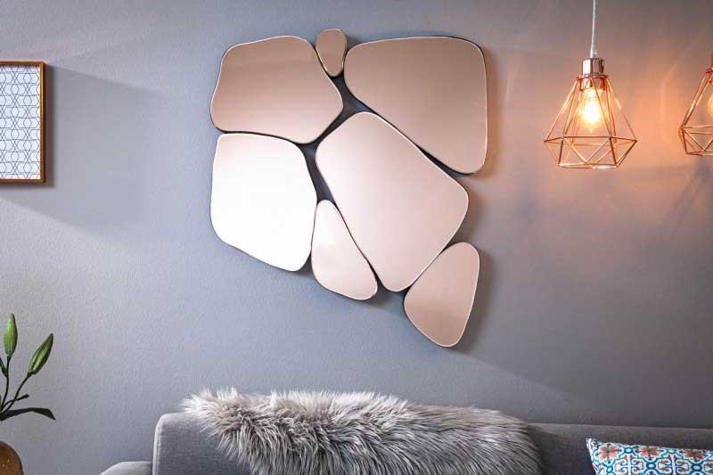 """Inšpirovalo vás toto nástenné zrkadlo k novej mozaike v patchworkovom štýle? """"Ilustrujte"""" ju na vlastnom hand made produkte! Zdroj: iKuchyne.sk"""