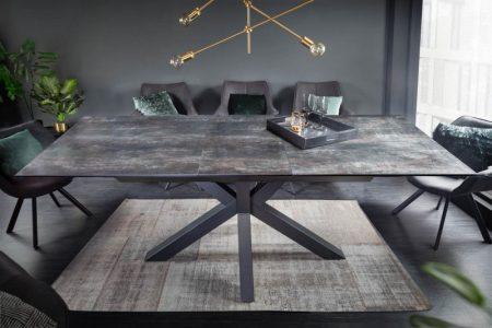 Jedálenský stôl Eternity II 180-225cm láva keramika