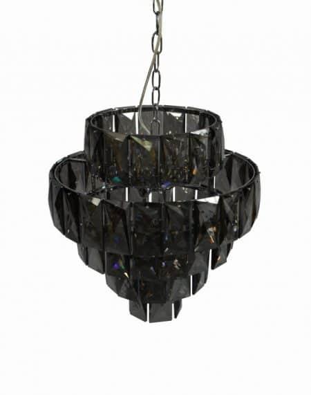 Luster Kristall 50cm edel-sivá