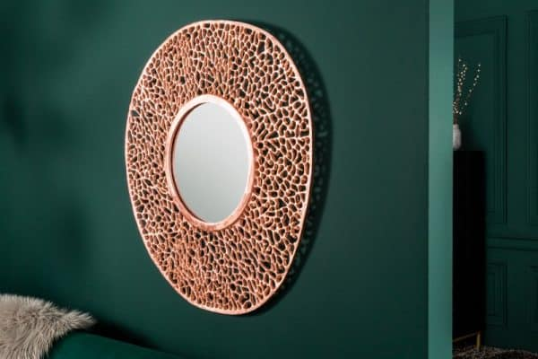 Nástenné zrkadlo Leaf L 110cm meď