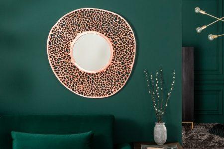 Nástenné zrkadlo Leaf S 75cm meď