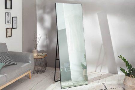 Stojanové zrkadlo Noemi 170cm čierna