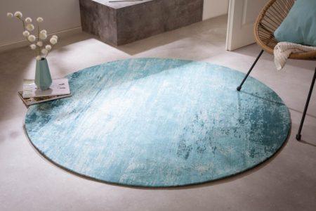 Teppich Modern Art 150cm rund tyrkysová béžová