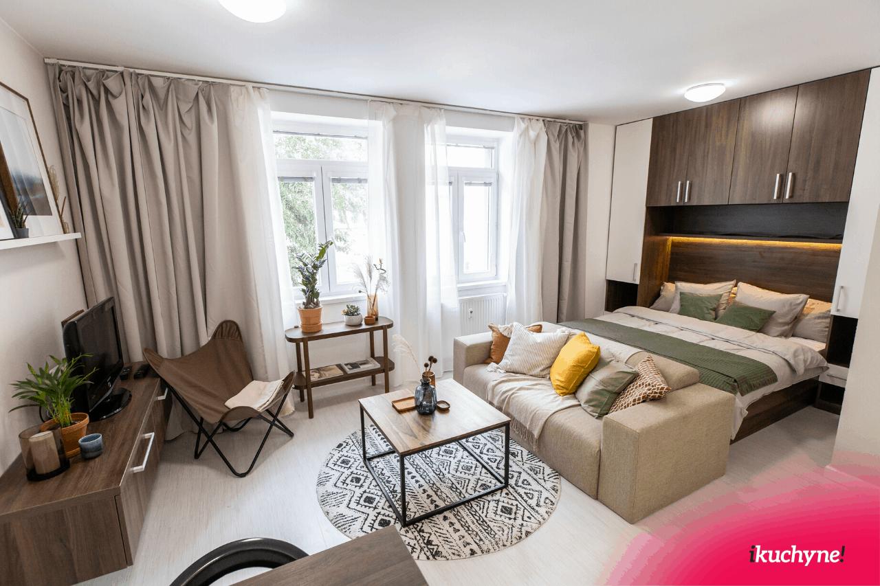 Malý, ale dizajnový apartmán v Malých Krasňanoch. Zdroj: iKuchyne.sk