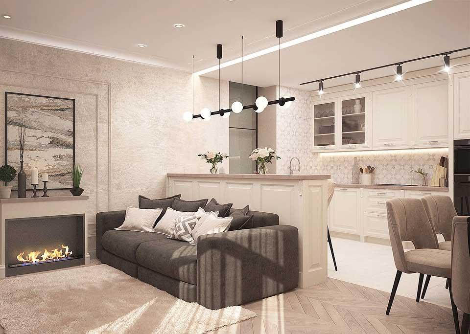 5 spôsobov, ako opticky zväčšiť malý byt. Zdroj: Pinterest.com