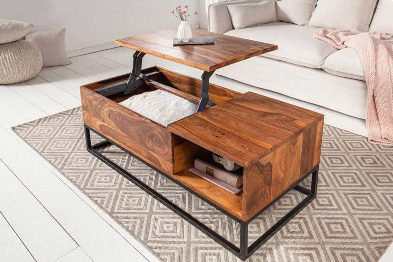 Funkčný konferenčný stolík so skrytou poličkou v sebe ukrýva aj čaro Makassar. Zdroj: iKuchyne.sk