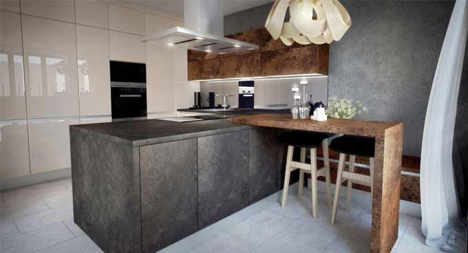 Luxusný interiér v celom dome. Zdroj: iKuchyne.sk