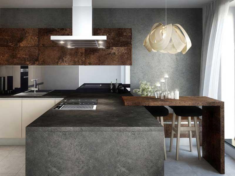 A ččo takto pracovná kuchynská doska v prevedení Ceramic Antracitový? Zdroj: iKuchyne.sk