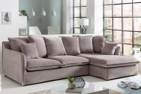 Eck-Sofa Heaven 255cm plátno taupe
