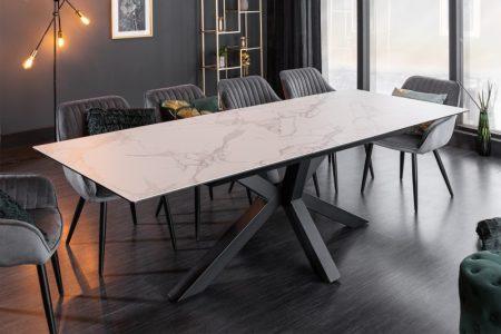 Jedálenský stôl Eternity 180-225cm mramor-Optik