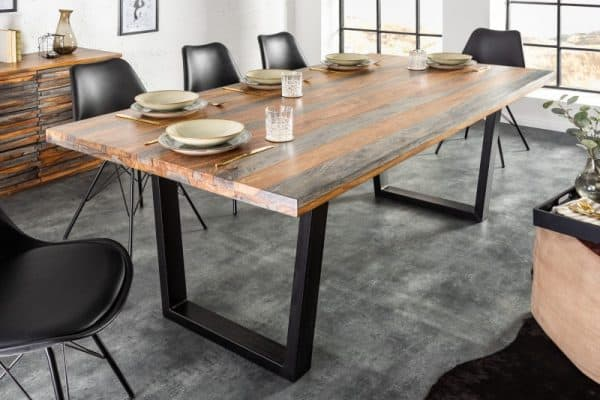 Jedálenský stôl Fire & Earth 180cm sheesham smoke