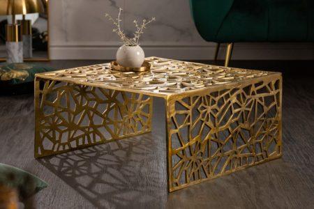Konferenčný stolík Abstrakt 60cm zlatá