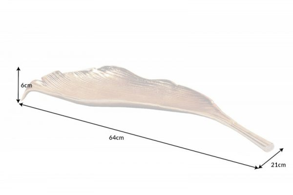 Schale Leaf 65cm zlatá
