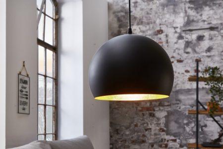 Závesná lampa Glow čiernozlatá 30cm
