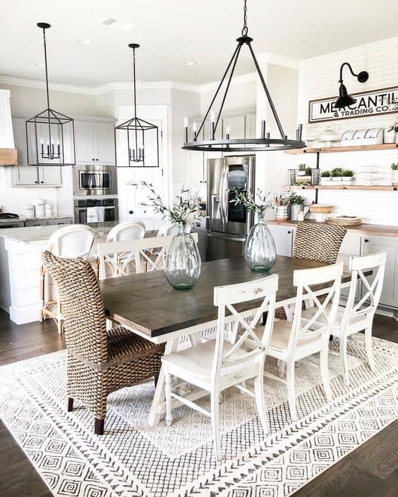 Jedáleň vo vidieckom štýle? 5 tipov, ako na to! Zdroj: Pinterest.com