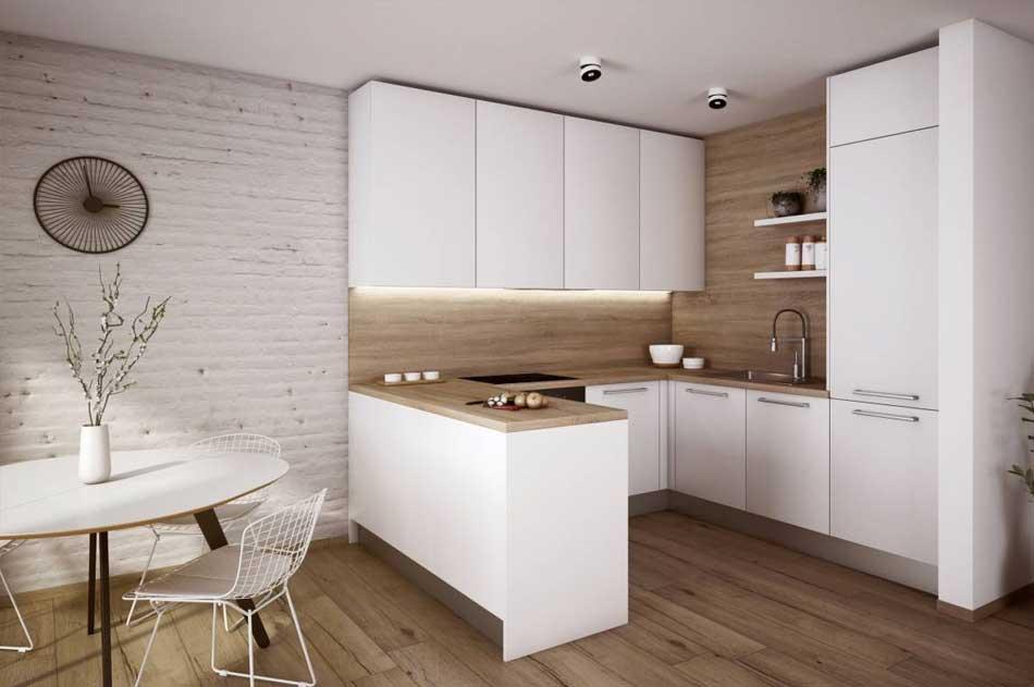 Jednoduchosť, čisté línie a nevýrazné farby pomôžu dosiahnuť vzdušný interiér. Zdroj: iKuchyne.sk