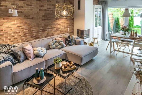 Škandinávska obývačka. Zdroj: Pinterest.com