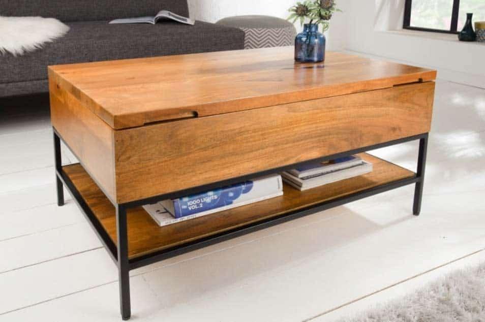 Nasťahujte priemyselný vzhľad do vašej obývačky vďaka stolíku Factory. Zdroj: iKuchyne.sk