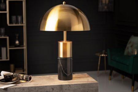 Stolová lampa Burlesque zlatá mramor čierna