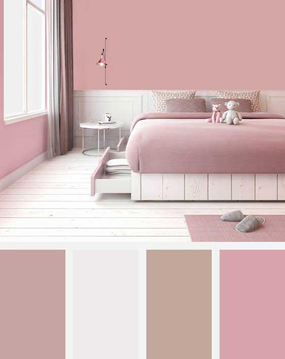 Ružová farba môže plynulo prechádzať do staroružovej či bledohnedej. Zdroj: Pinterest.com
